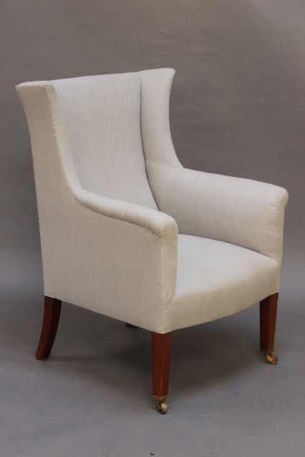 late 19thc small winged armchair