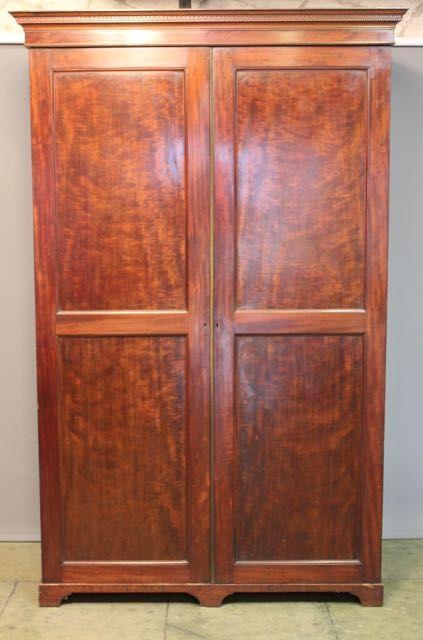 19thc mahogany wardrobecupboard