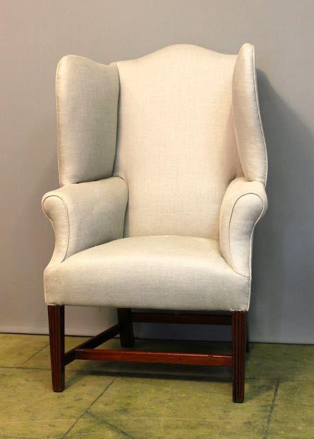 a regency mahogany wing armchair