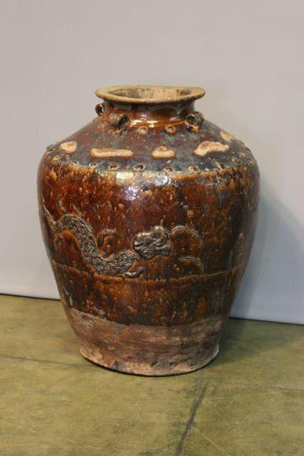 south east asian pottery jar
