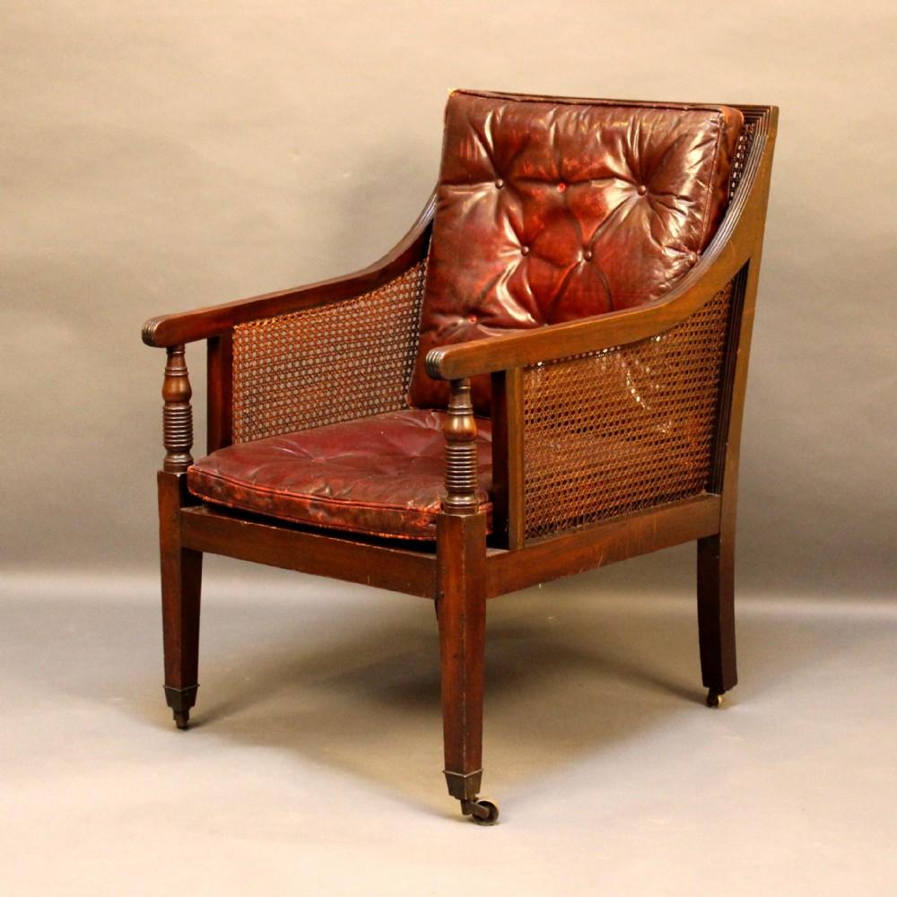 regency bergere library chair - Regency Bergere Library Chair 261266  Sellingantiques.co.uk - - Antique Library Chair Antique Furniture