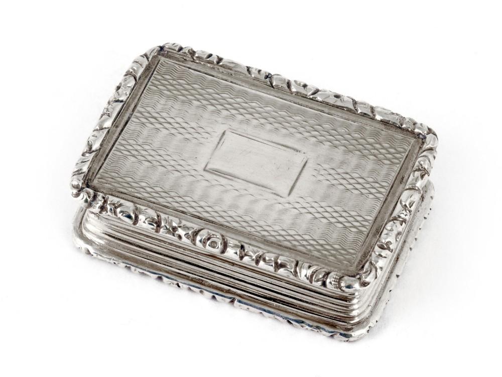 antique silver vinaigrette by joseph willmore