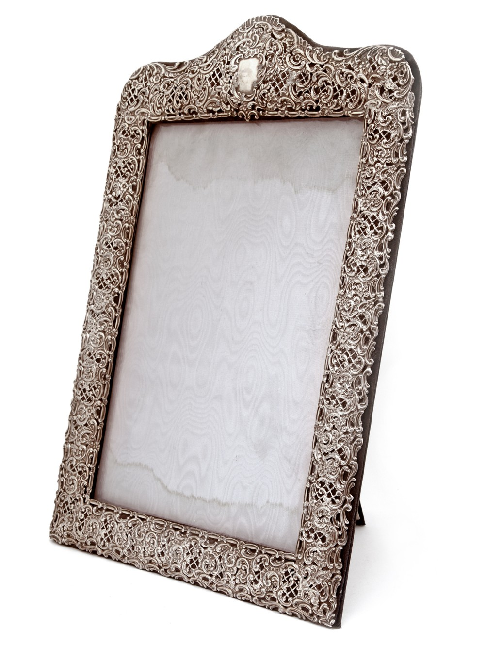 large victorian silver pierced and embossed picture or photo frame