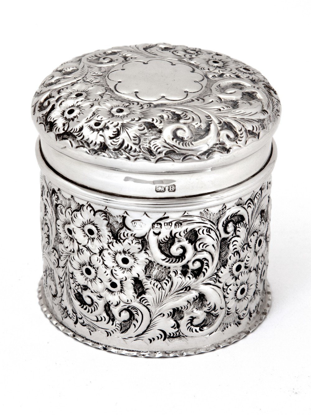 chester silver victorian dressing table jar