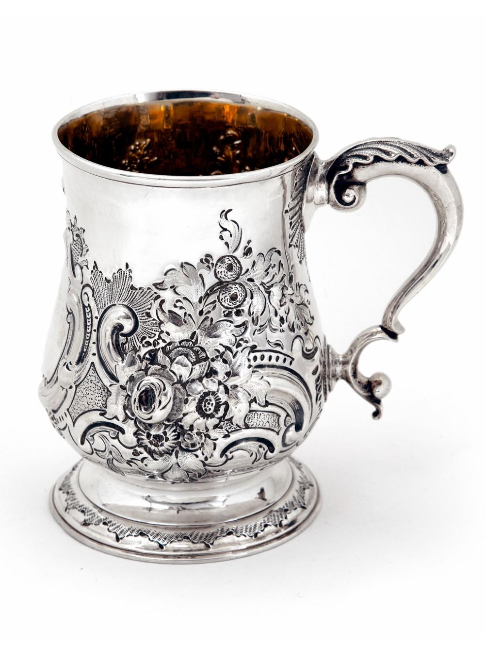 george iii newcastle silver pint mug