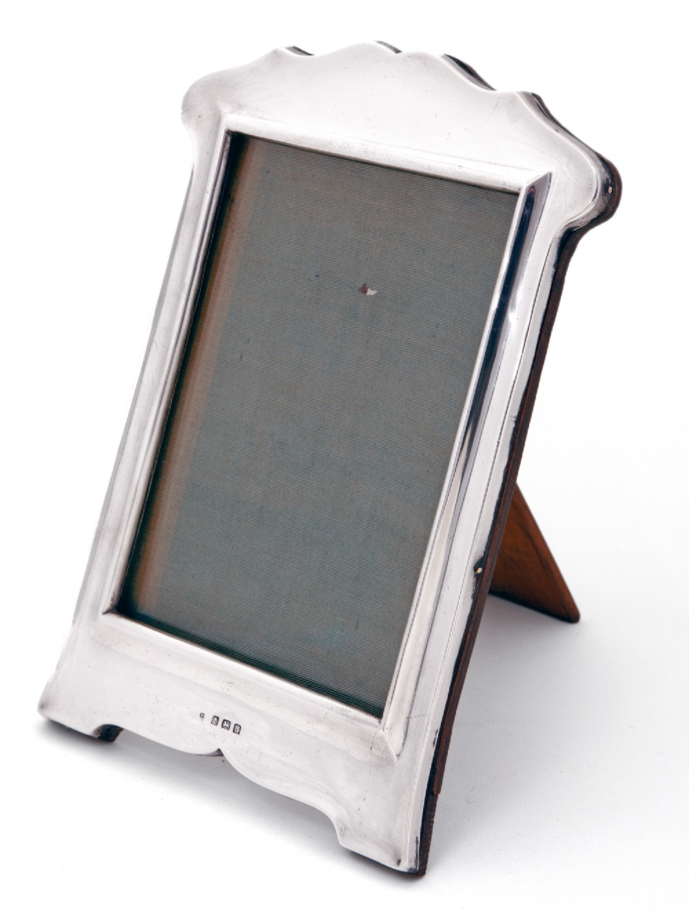 plain antique rectangular silver photo or picture frame