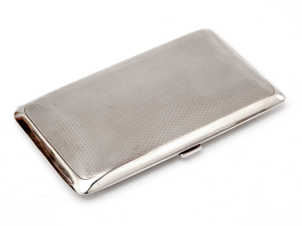 elkington co rectangular silver pocket cigar case