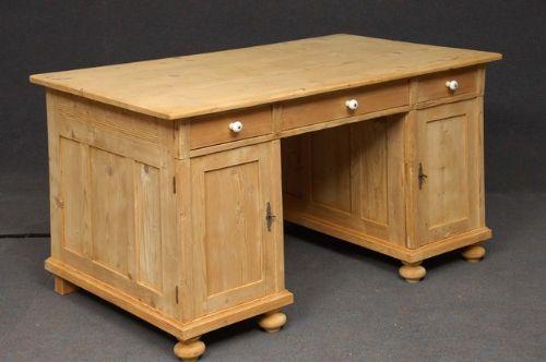 large antique pine desk - Large Antique Pine Desk 191586 Sellingantiques.co.uk
