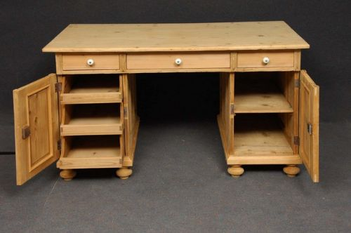 Large Antique Pine Desk 191586 Sellingantiques.co.uk - Antique Pine Desk Antique Furniture