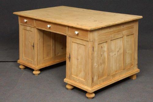 Thank you. - Large Antique Pine Desk 191586 Sellingantiques.co.uk