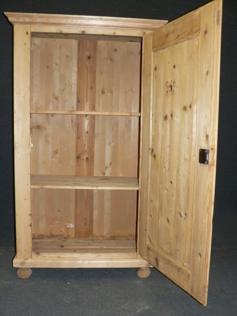 antique pine larder cupboard - photo angle #2