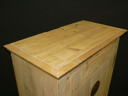antique pine larder cupboard - photo angle #6