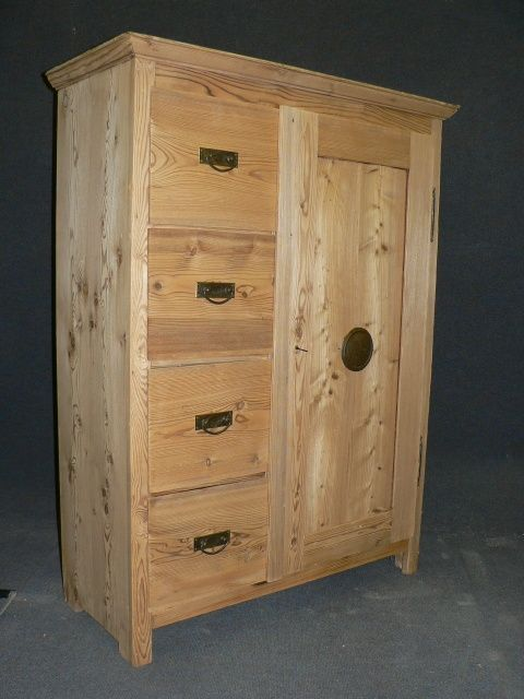 antique pine larder cupboard with 4 drawers - Antique Pine Larder Cupboard With 4 Drawers 236376