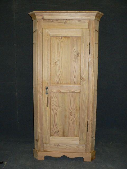 tall slim antique pine corner cupboard - Tall Slim Antique Pine Corner Cupboard. 269425 Sellingantiques.co.uk