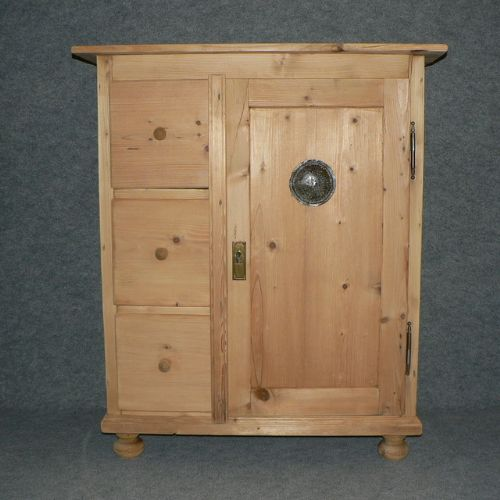 antique pine larder cupboard 3 drawers 1 door - Antique Pine Larder Cupboard. 3 Drawers, 1 Door 275121