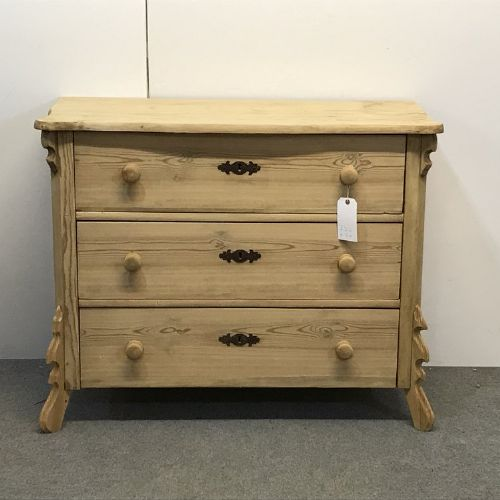 continental old pine chest of drawers