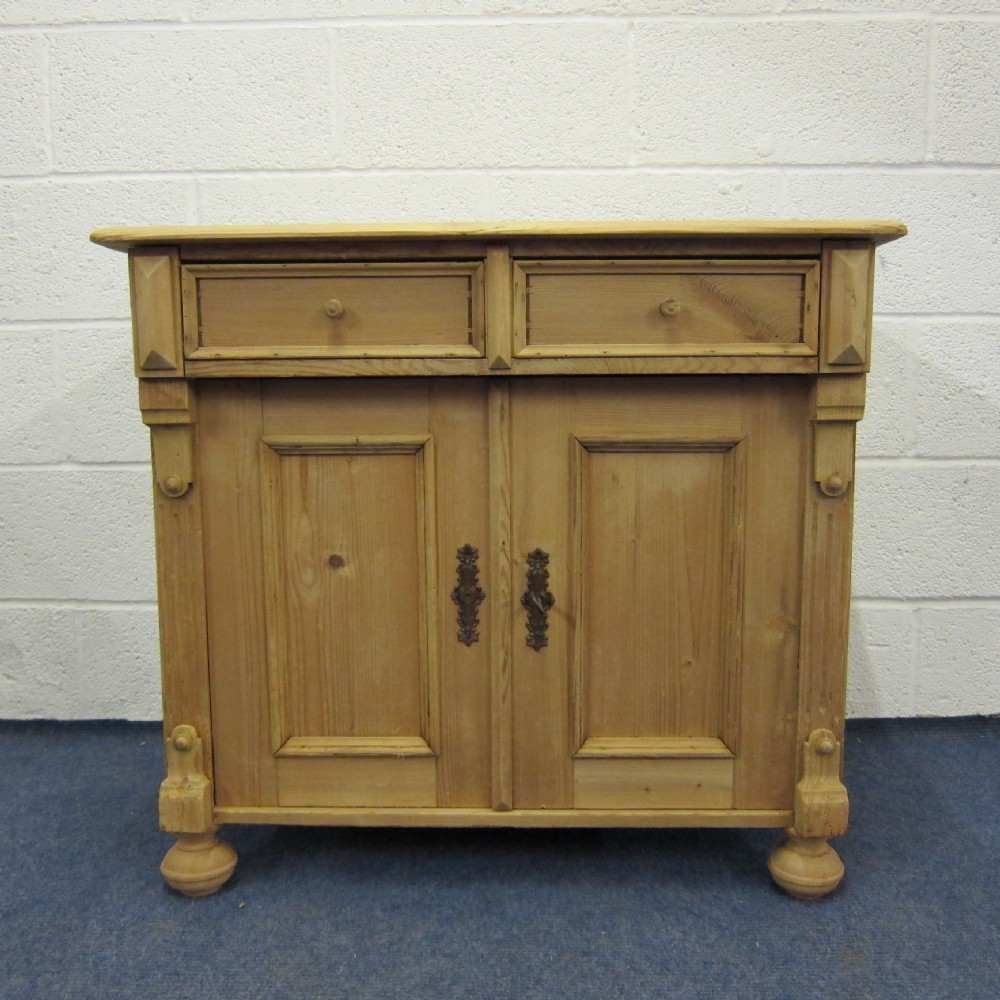 small antique pine cupboard with 2 drawers - Small Antique Pine Cupboard With 2 Drawers 282108