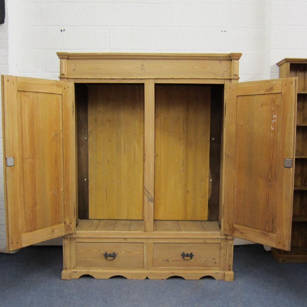 Short Antique Pine Wardrobe Dismantles 324852 Sellingantiques