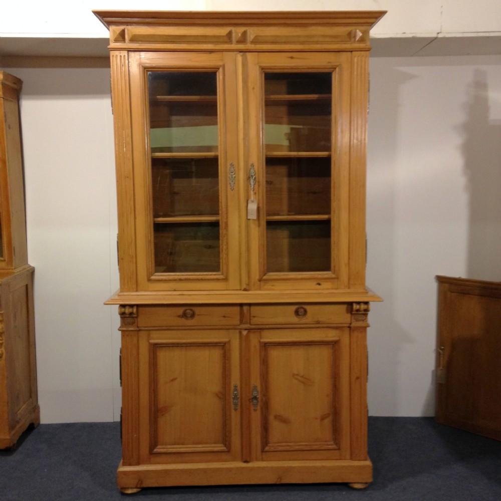 large glazed antique pine dresser display cabinet - Large Glazed Antique Pine Dresser - Display Cabinet 347507