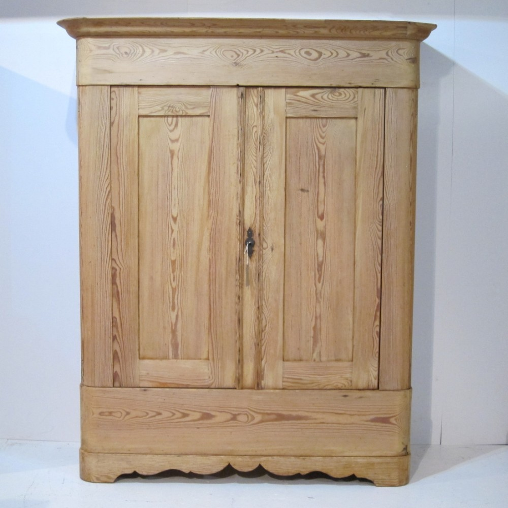 early 1800's antique pine wardrobe