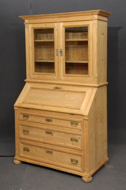 Large antique pine secretaire 192138 for Bureau secretaire