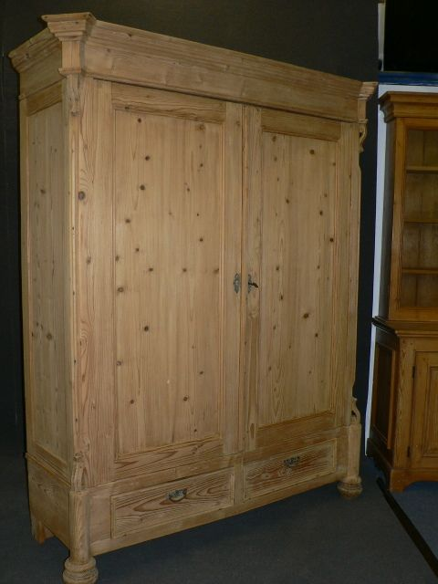 Large Antique Pine Wardrobe Dismantles