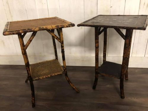 pair of victorian bamboo side tables