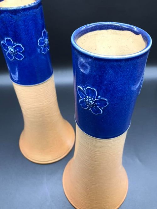 pair of royal doulton vases c1922