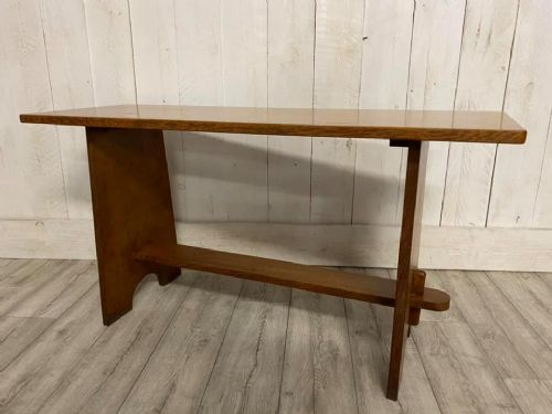 arts and crafts light oak cotswold school bench