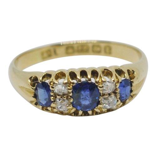 edwardian sapphire and diamond band ring