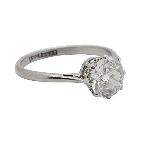 art deco 170ct diamond solitaire engagement ring