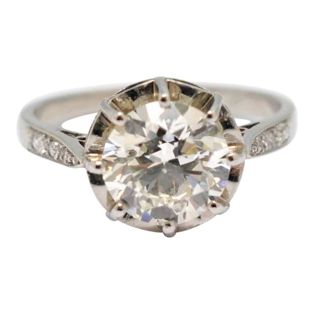 207ct solitaire diamond engagement platinum ring