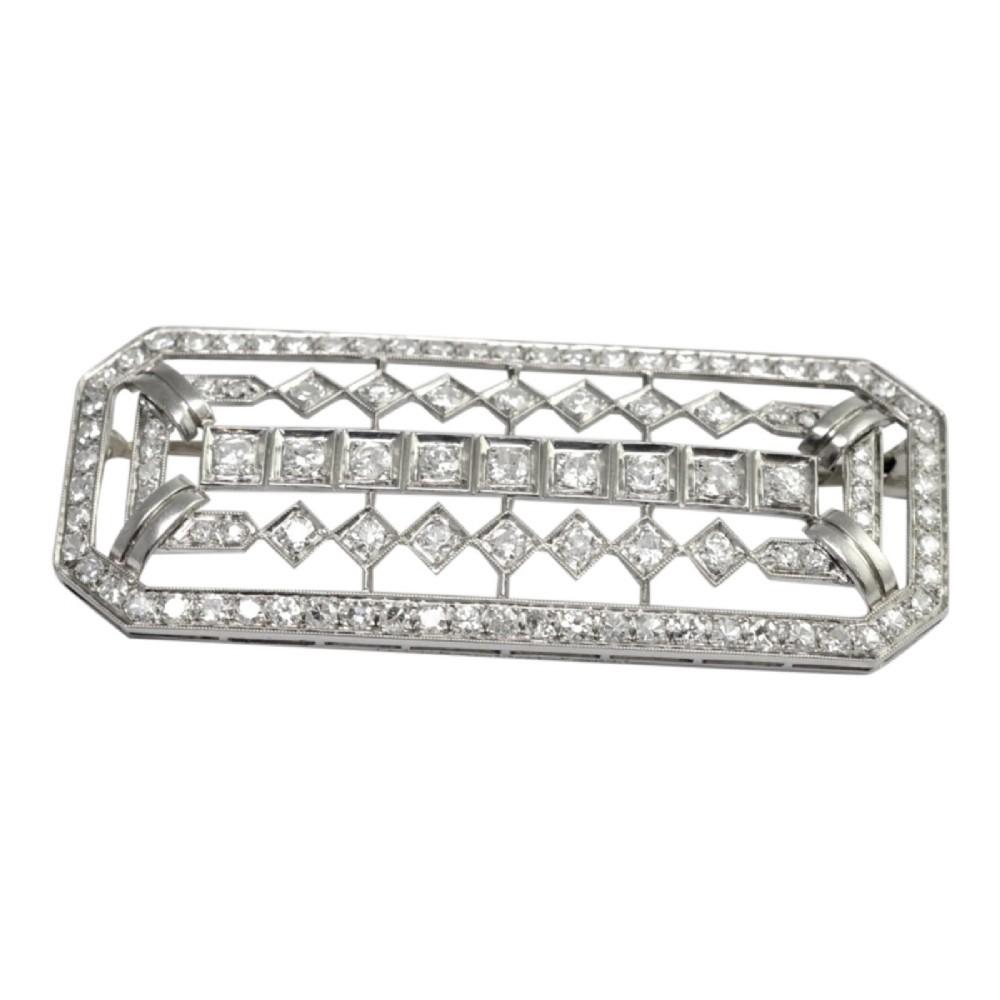 mauboussin hermes art deco diamond platinum brooch