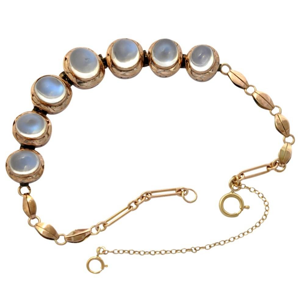 antique moonstone 9ct gold bracelet