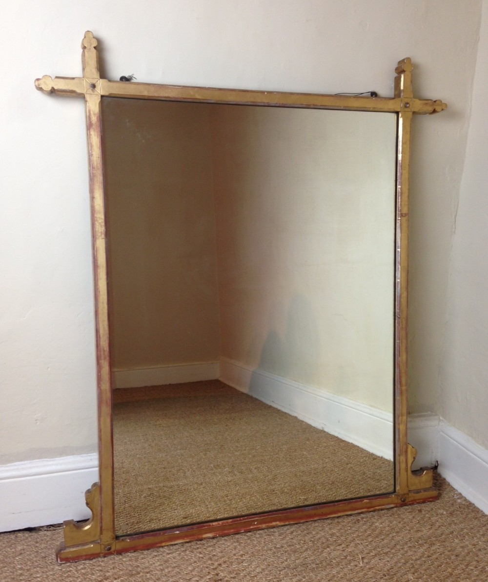 A gothic gilt over mantel mirror c 1880 301422 for Mantel mirrors
