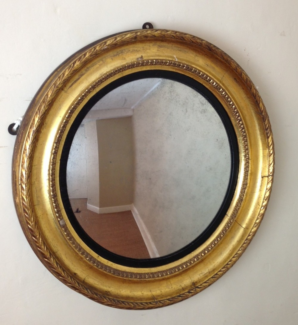 A regency gilt convex mirror c 1820 234328 for Convex mirror
