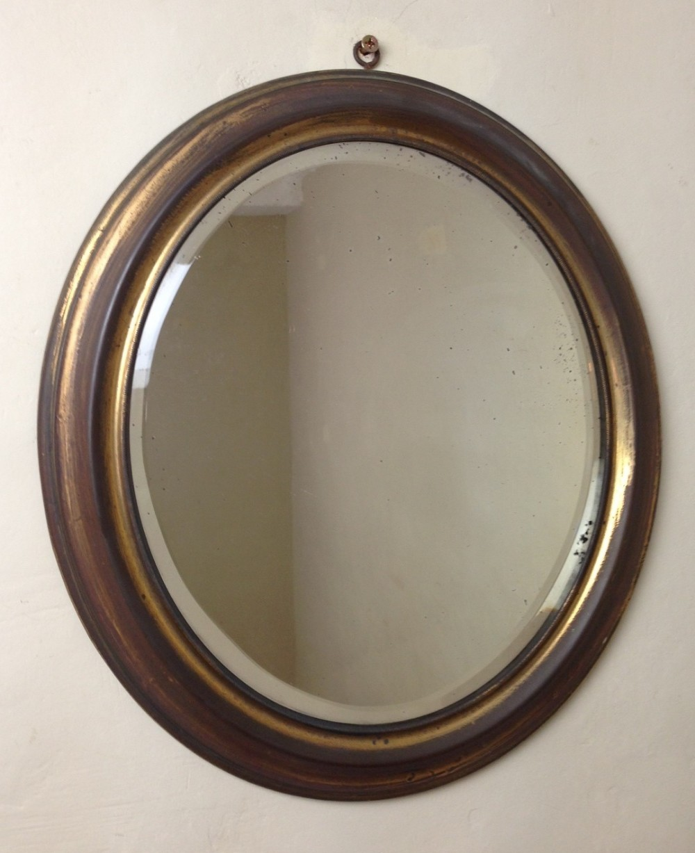 A victorian brass oval mirror c 1880 254770 for Victorian mirror