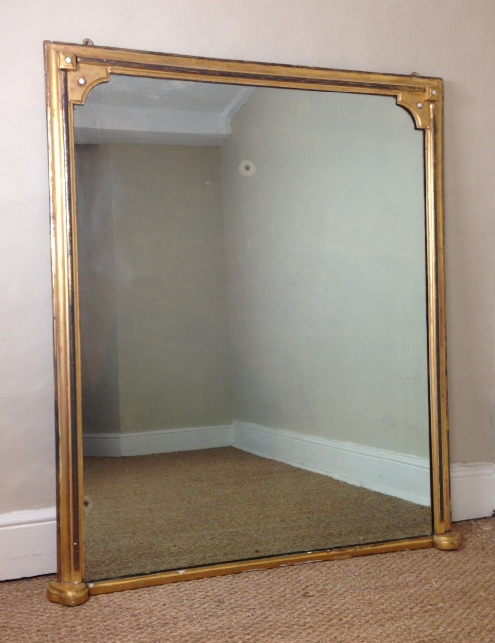 A victorian gilt over mantel mirror c 1880 270121 for Mantel mirrors