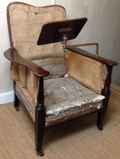 a late victorian mahogany reading chair attributed to morris and co c 1900 - A Late Victorian Mahogany Reading Chair Attributed To Morris And Co