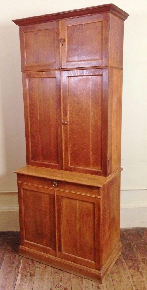 An Early Heals Oak 3 Tier Cabinet C 1910   233125 ...
