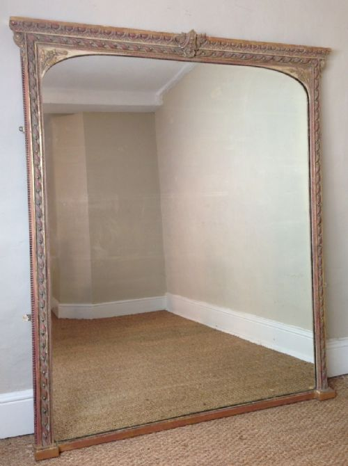 A Large Victorian Gilt Over Mantel Mirror C 1870 274677