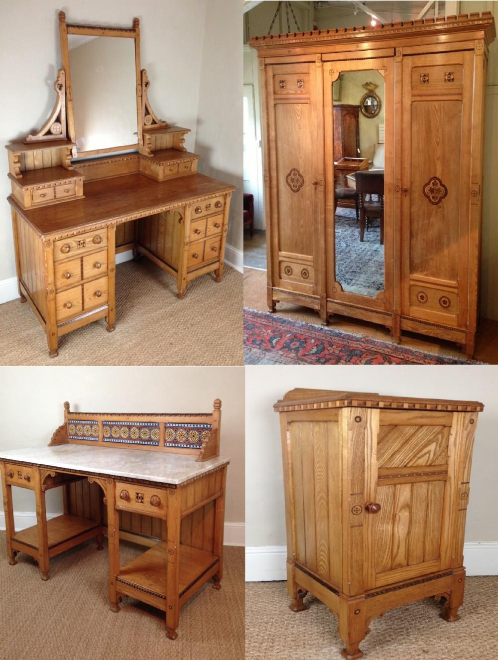 Delightful A Marsh And Jones 5 Piece Ash Bedroom Suite C 1875