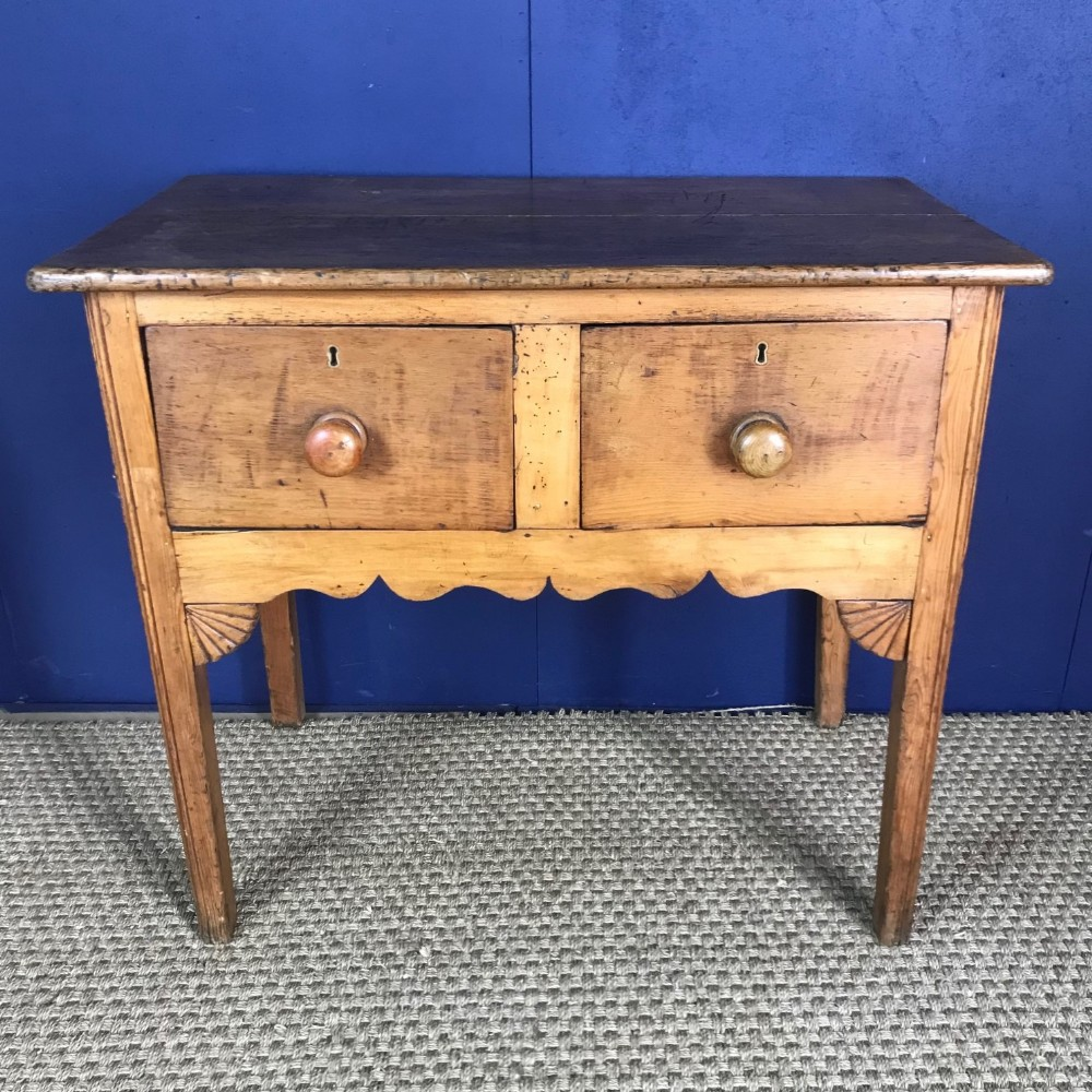 a late georgian pine 2 drawer small dresser or side table west country circa 1830