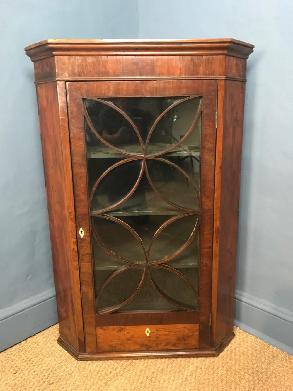 a george 111 yew wood corner cabinet circa 1780