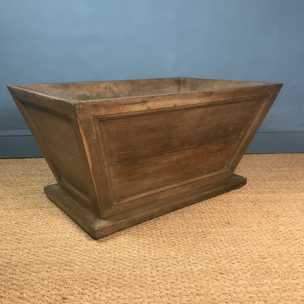 a large mid 19th c oak sarcophagus log basket or wine cooler circa 1850
