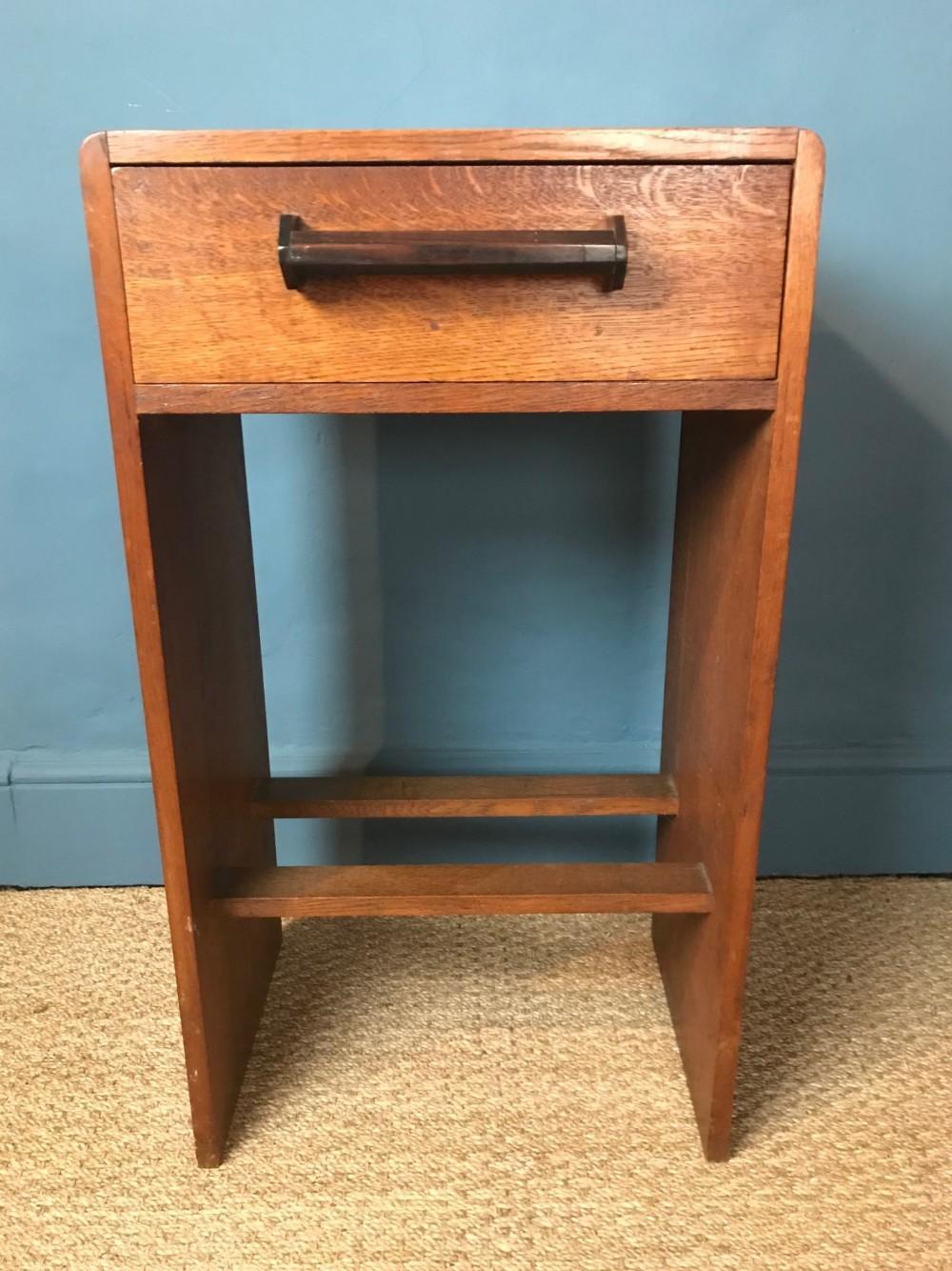 an english oak art deco side table circa 1925