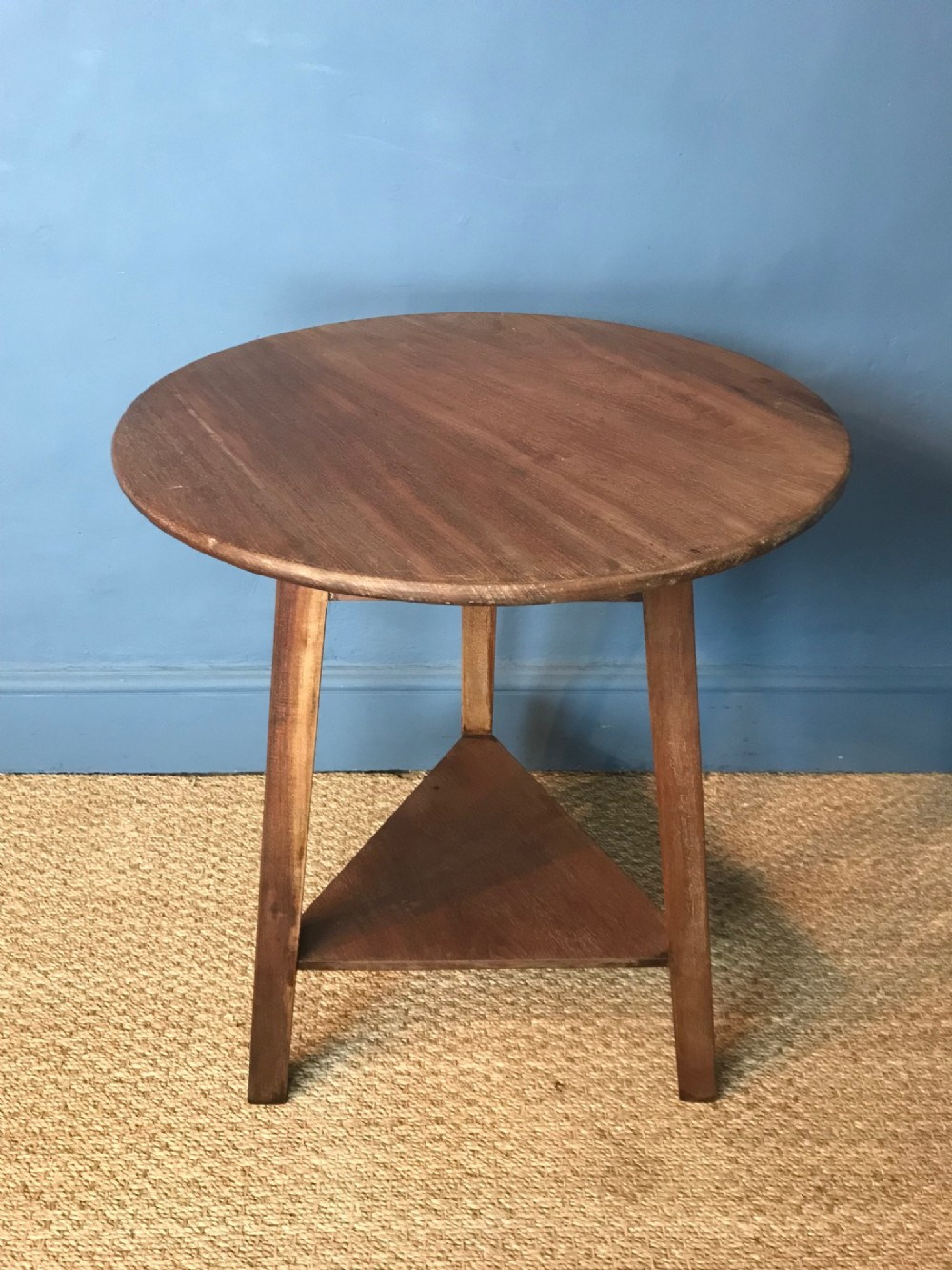 an arts and crafts sapele cricket table circa 1910