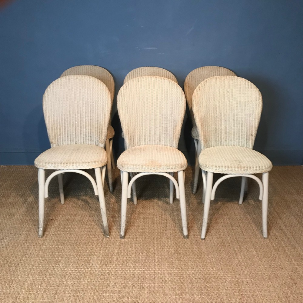 a set of 6 lloyd loom chairs circa 1930