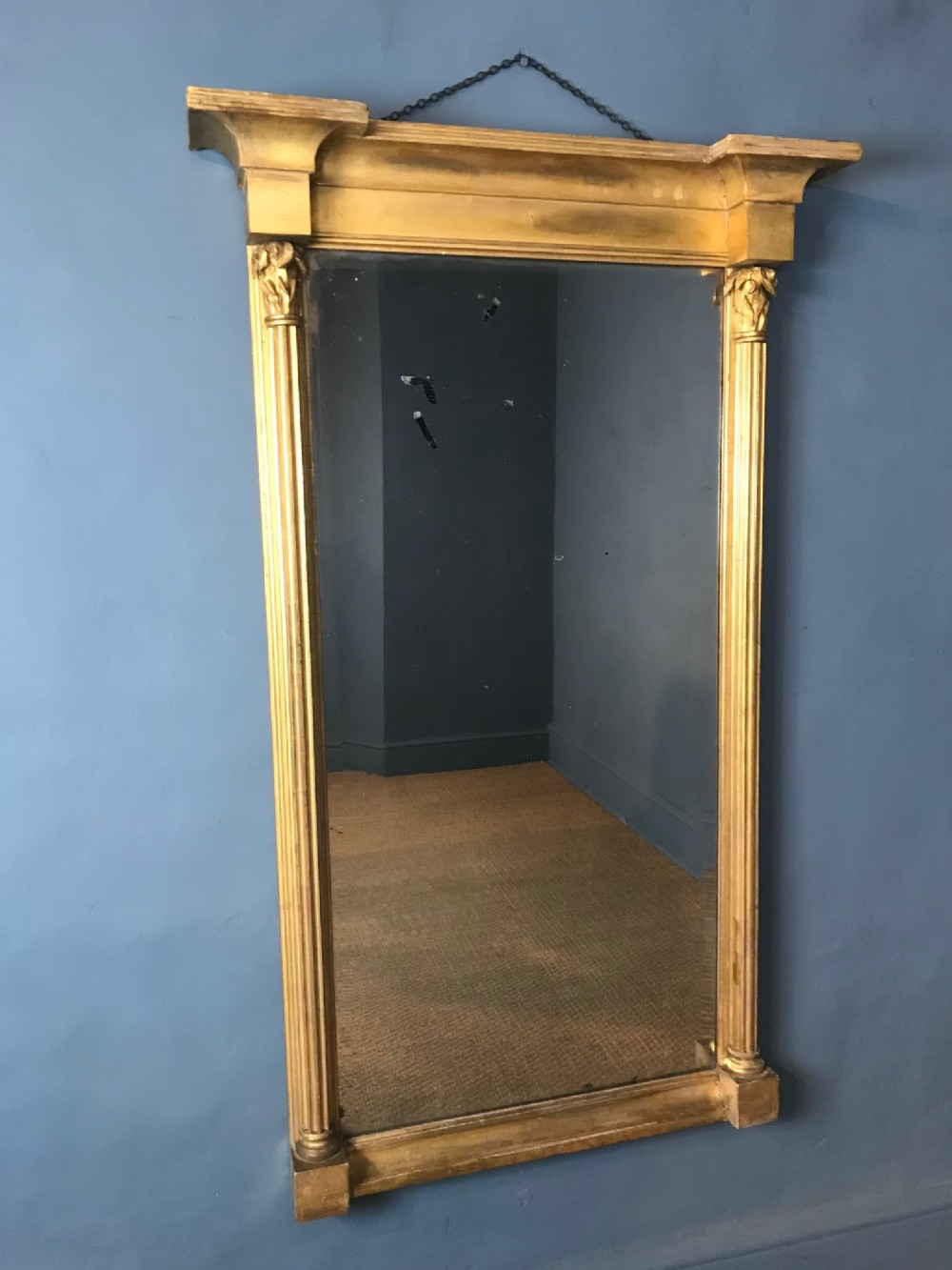 a large george 111 water gilt pier mirror circa 1800