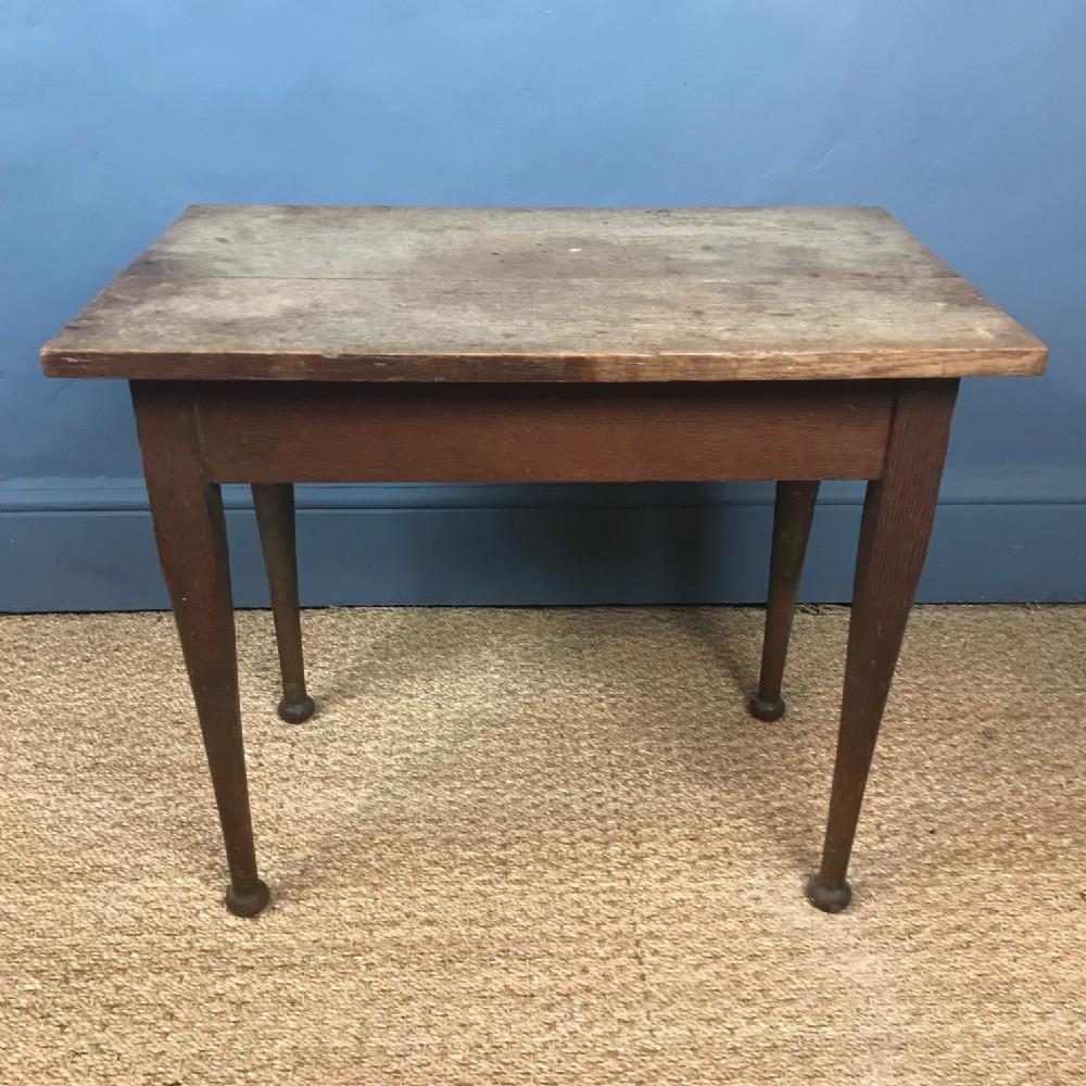 an early heals rectangular oak lamp table circa 1910